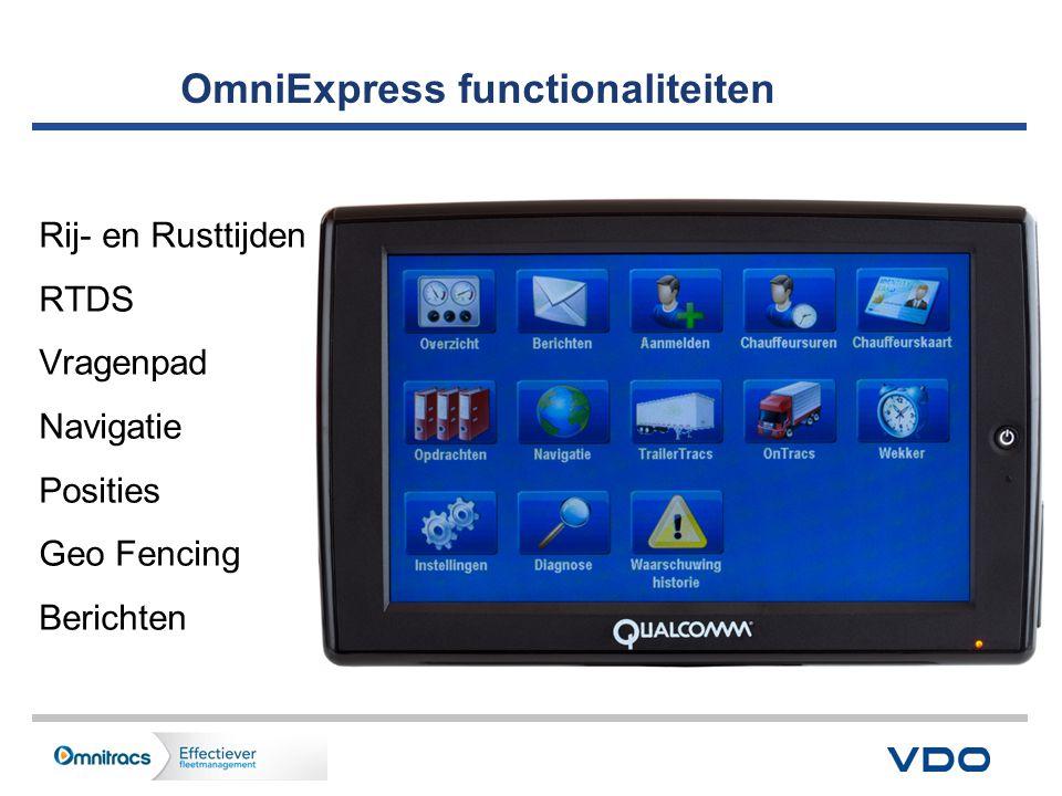 Trailer & reefer info op de Display Screen info: - Trailer ID, type & model - Temp instelling, aan- en afvoer temp.