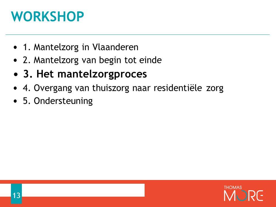 • 1. Mantelzorg in Vlaanderen • 2. Mantelzorg van begin tot einde • 3. Het mantelzorgproces • 4. Overgang van thuiszorg naar residentiële zorg • 5. On