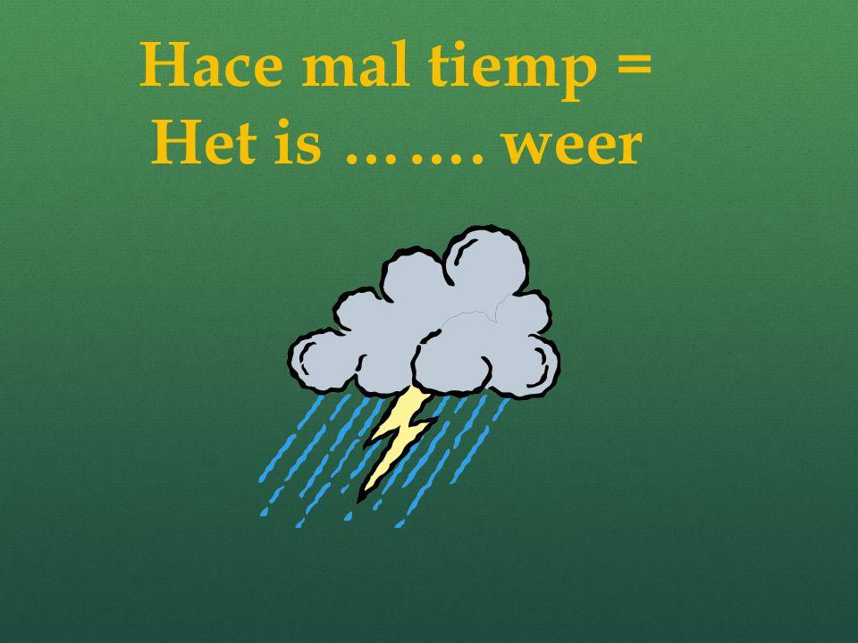 Hace buen tiempo… Het is mooi weer