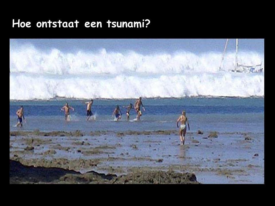 Hoe ontstaat een tsunami?