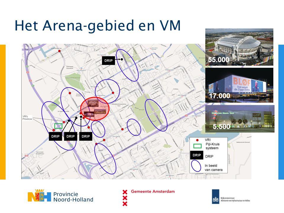 55.000 17.000 5.500 Het Arena-gebied en VM