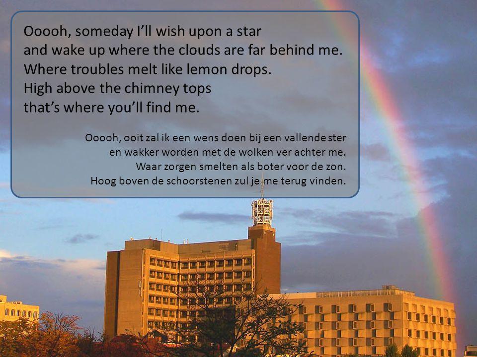 Oh, somewhere over the rainbow bluebirds fly, birds fly over the rainbow.