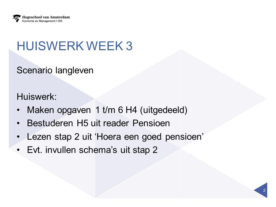AOW IN DE TOEKOMST •Pensioenakkoord.