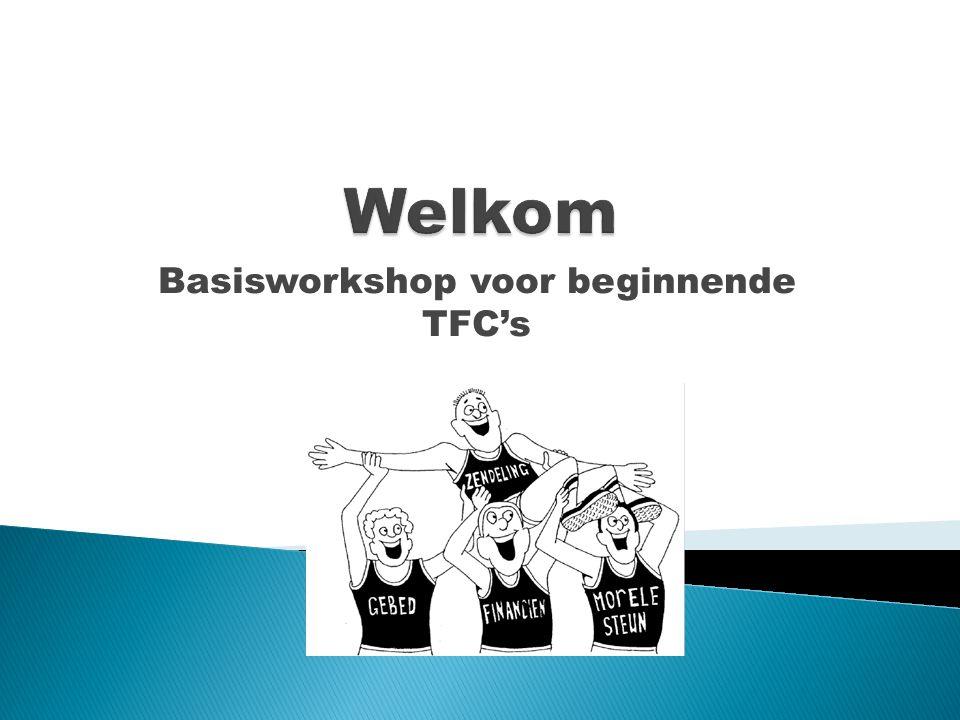 Basisworkshop voor beginnende TFC's