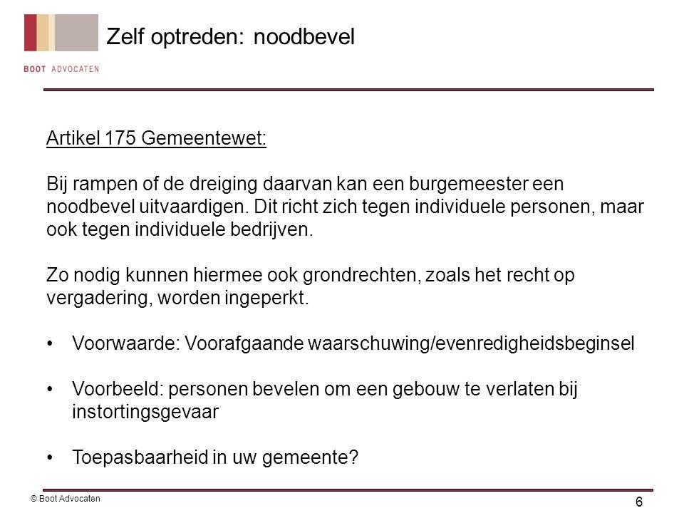 Artikel 175 Gemeentewet: Bij rampen of de dreiging daarvan kan een burgemeester een noodbevel uitvaardigen.