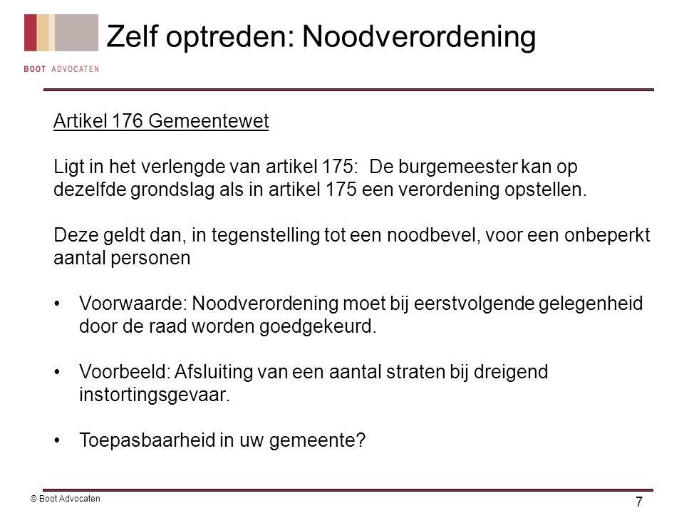 Artikel 176 Gemeentewet Ligt in het verlengde van artikel 175: De burgemeester kan op dezelfde grondslag als in artikel 175 een verordening opstellen.
