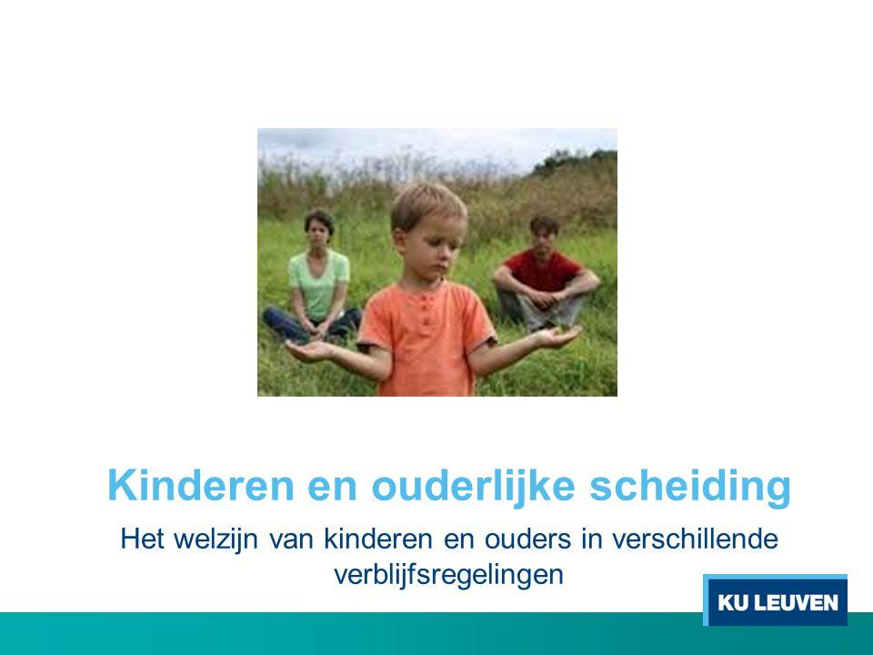 Kinderen en ouderlijke scheiding Het welzijn van kinderen en ouders in verschillende verblijfsregelingen