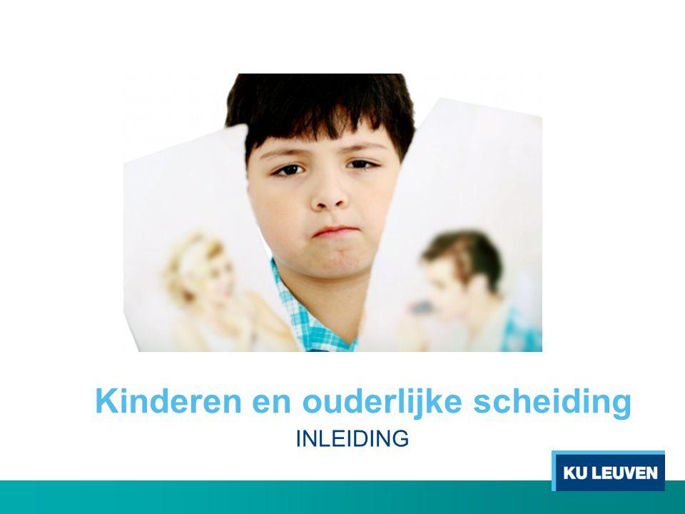 Enkele cijfers voor België • Bij twee derde van de echtscheidingen zijn kinderen betrokken (FOD Justitie, 2011).