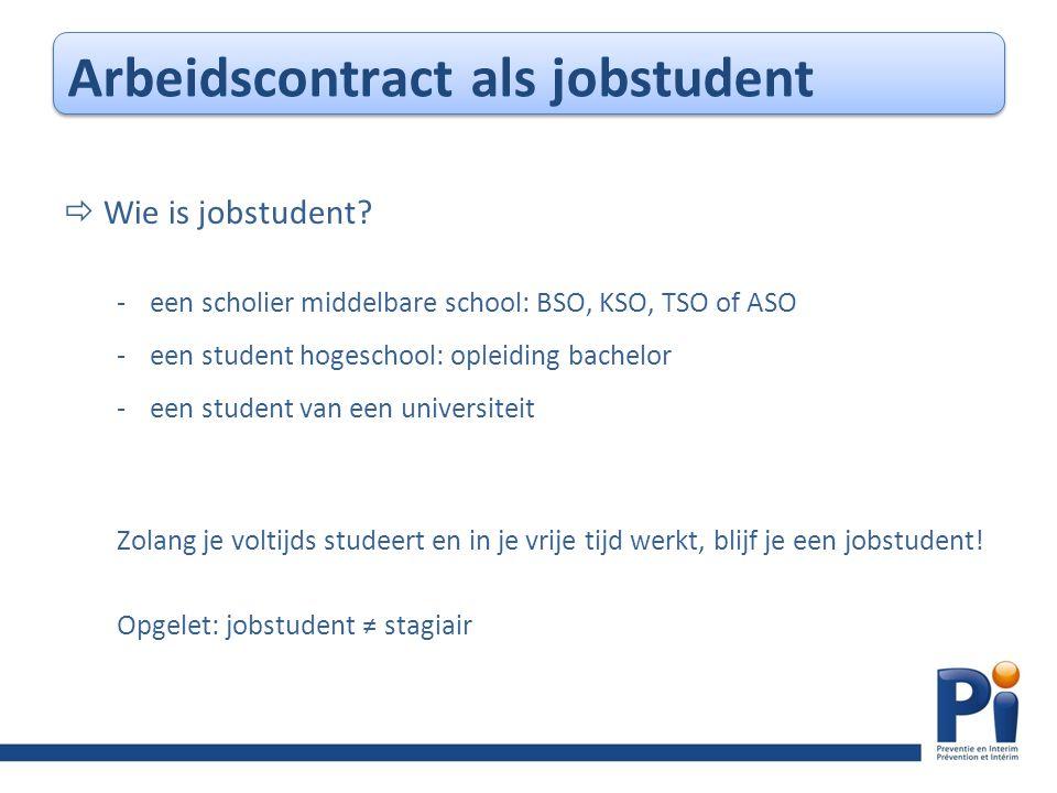  Wie is jobstudent.