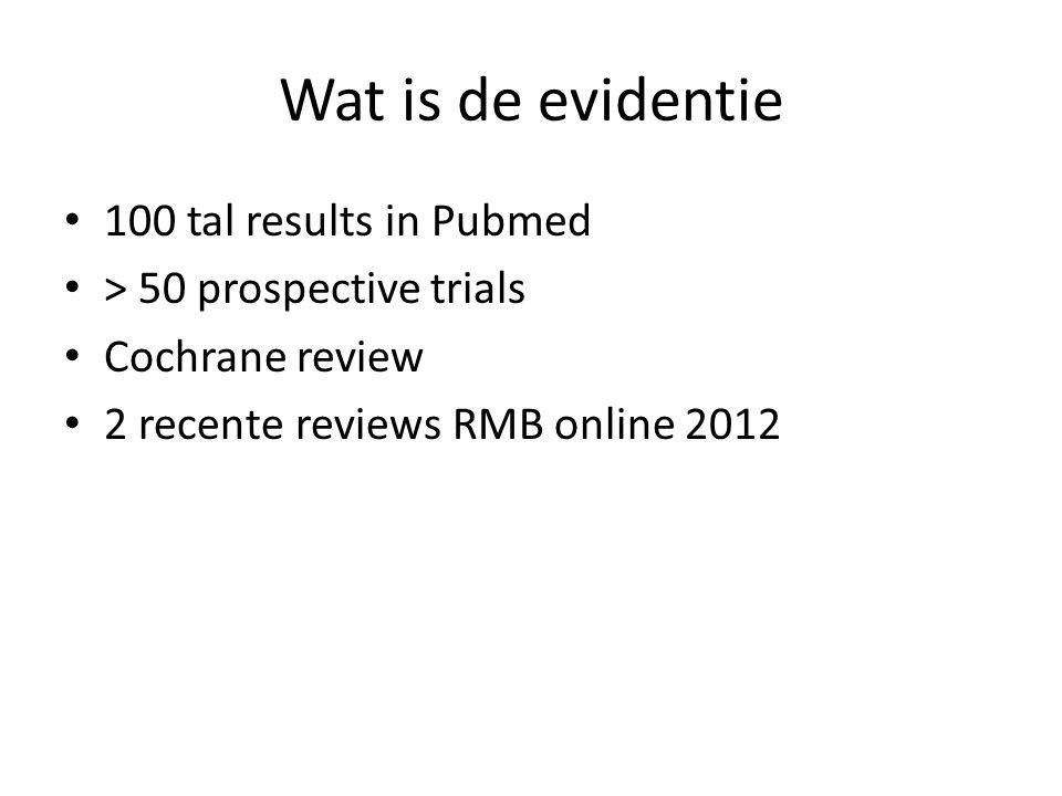 Twee RCTs met negatieve resultaten • Baum et al, Gynecol Endocrinol 2013 • RCT • Populatie:RIF • 18 : 2 pipelle curettes dag 9-12 en dag 21-24 • 18: cervicaal pipelle • CPR: 0% VS 31.25%_ LBR 0% VS 25% .