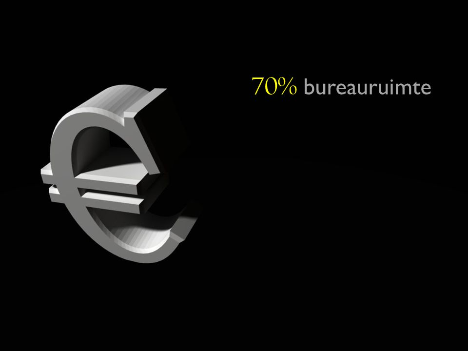 70 70% bureauruimte