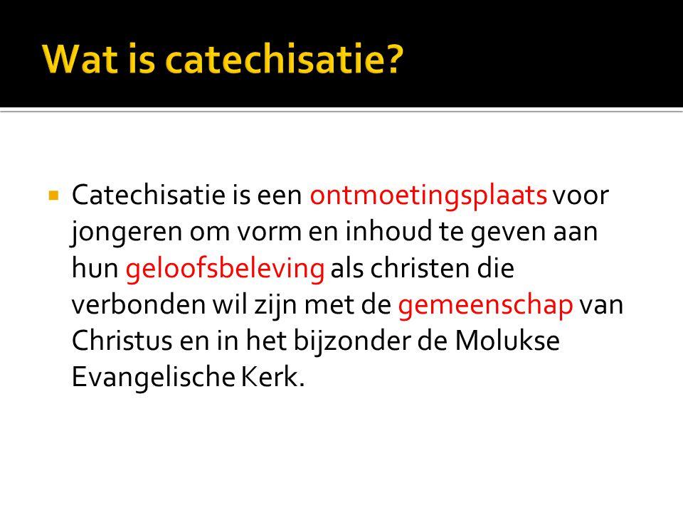  Procedure:  1.driehoeksgesprek ouders, catechisant en predikant  2.