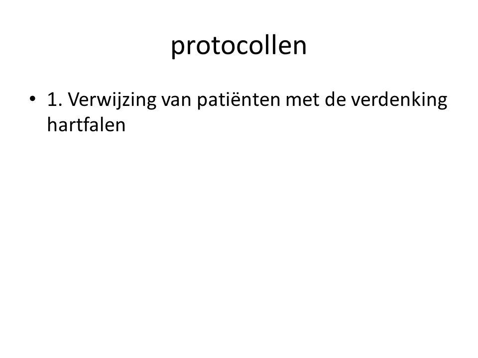protocollen • 1. Verwijzing van patiënten met de verdenking hartfalen