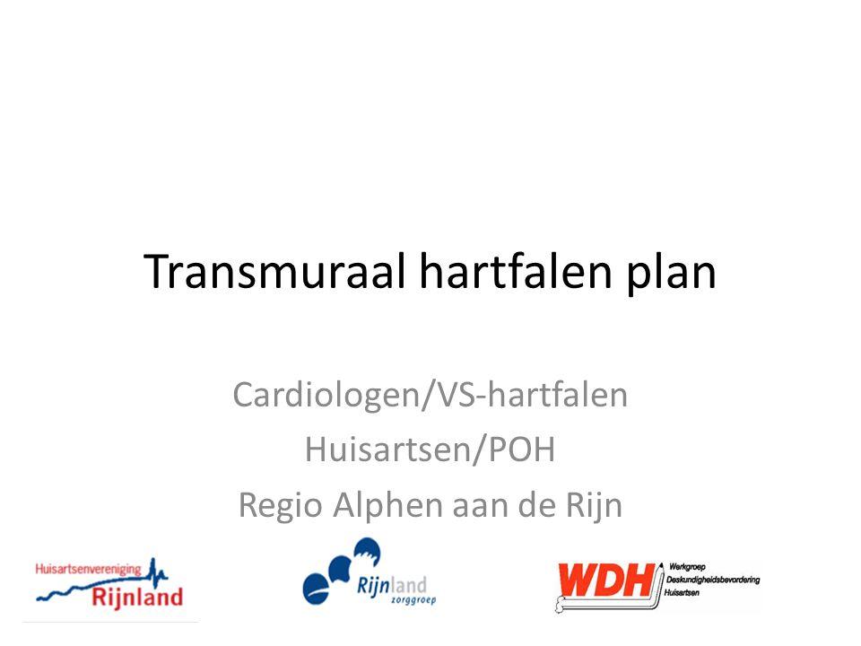 Transmuraal hartfalen plan Cardiologen/VS-hartfalen Huisartsen/POH Regio Alphen aan de Rijn