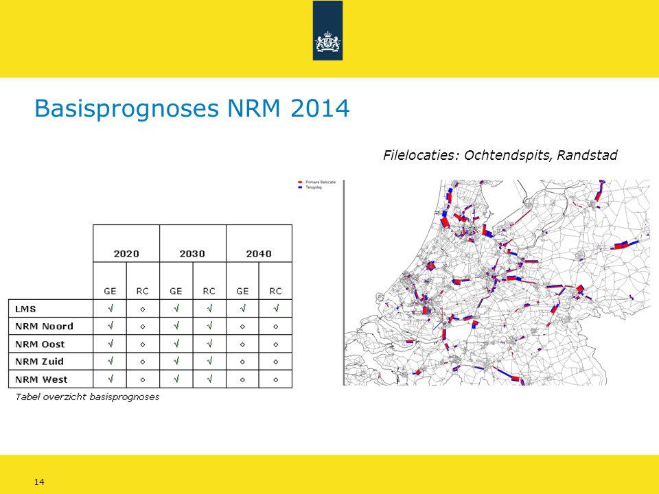 14 Basisprognoses NRM 2014 Filelocaties: Ochtendspits, Randstad