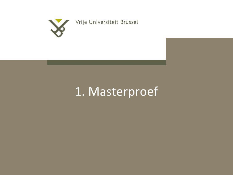 1. Masterproef