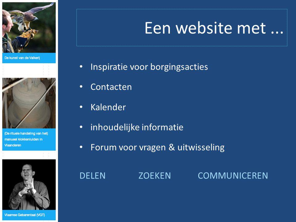 Een website met...