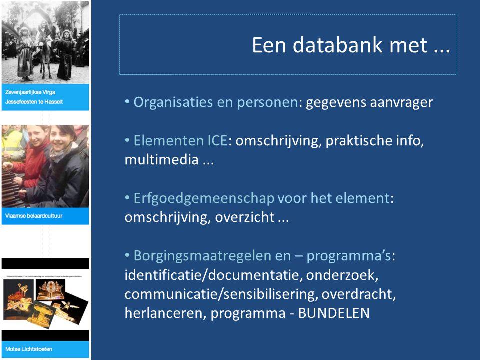 Een databank met...