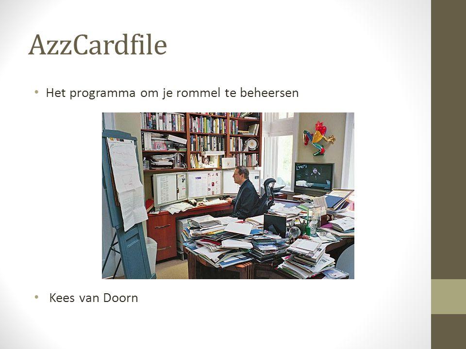 AzzCardfile • Het programma om je rommel te beheersen • Kees van Doorn