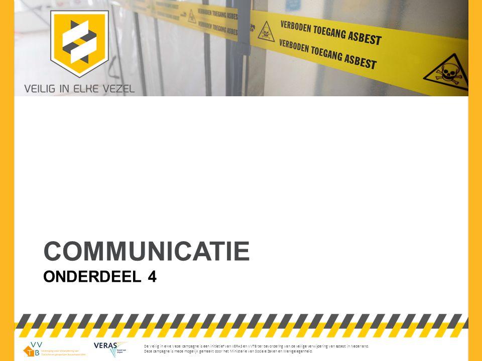 © mei 2013 – versie 00 Lichaamstaal is een belangrijke manier van communiceren.