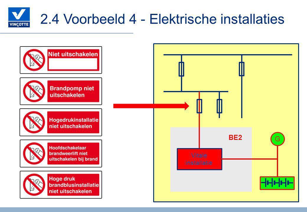 2.4 Voorbeeld 4 - Elektrische installaties Vitale installatie G BE2