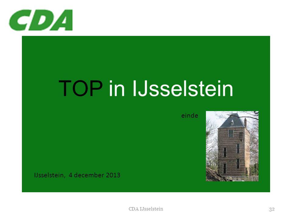 TOP in IJsselstein 32CDA IJsselstein IJsselstein, 4 december 2013 einde