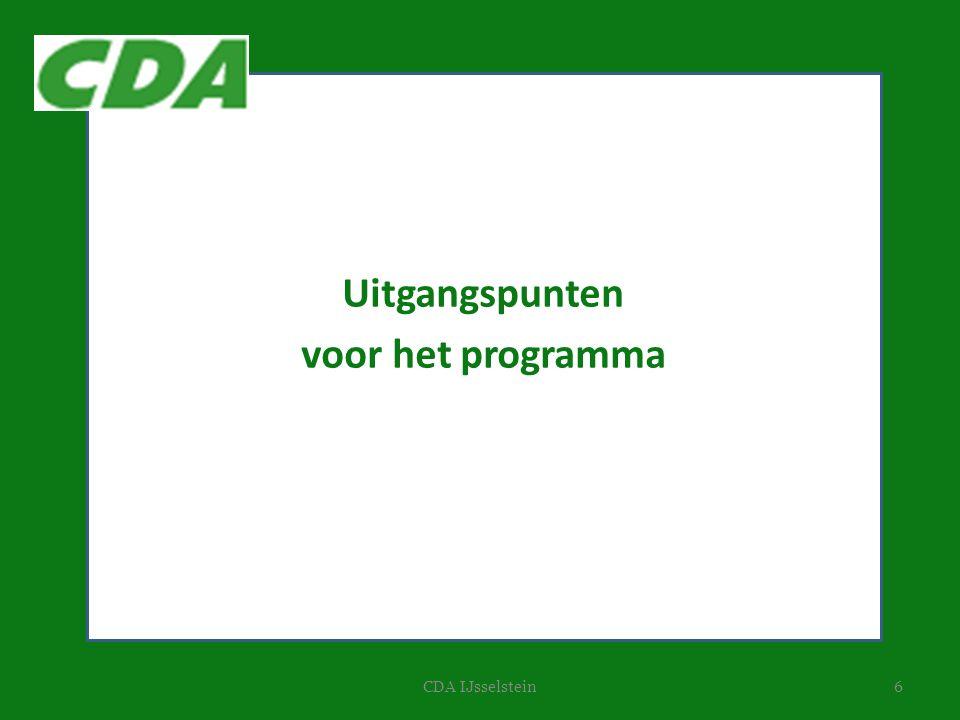 6CDA IJsselstein Uitgangspunten voor het programma