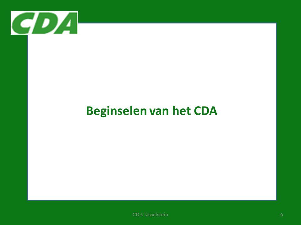 9CDA IJsselstein Beginselen van het CDA