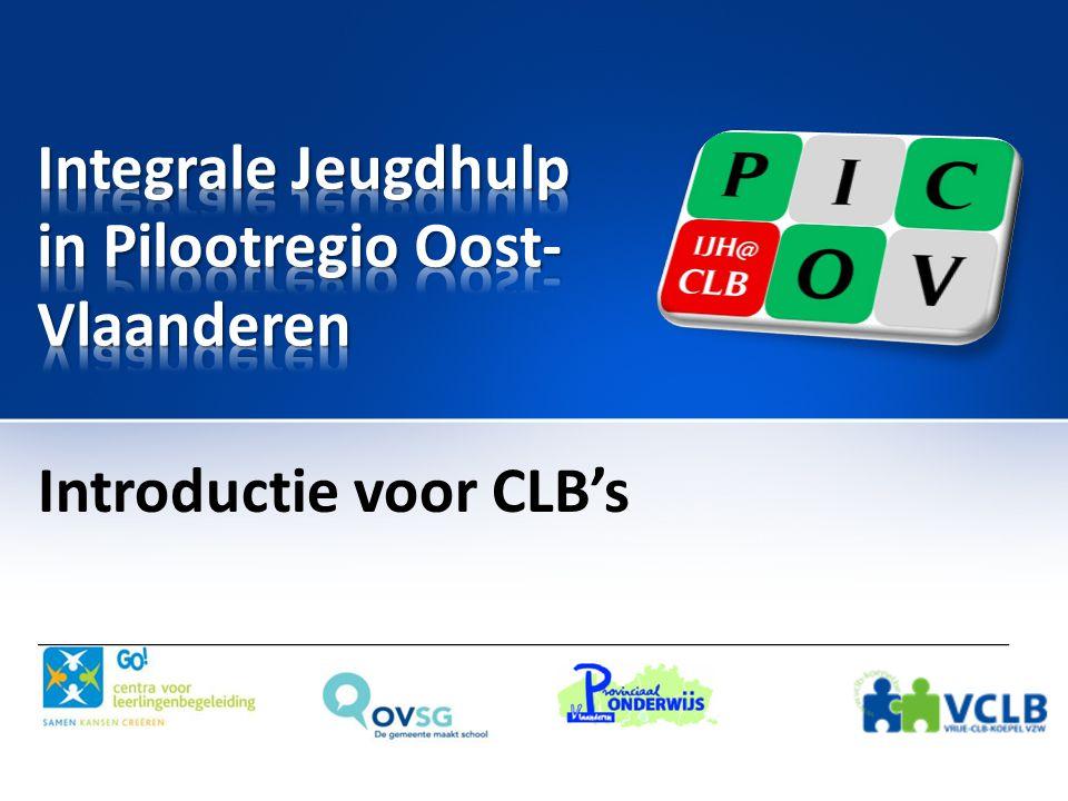 • Dit materiaal is volledig gebaseerd op het materiaal van de intersectorale IJH-introductie-sessies van het Pilootteam IJH Oost-Vlaanderen.