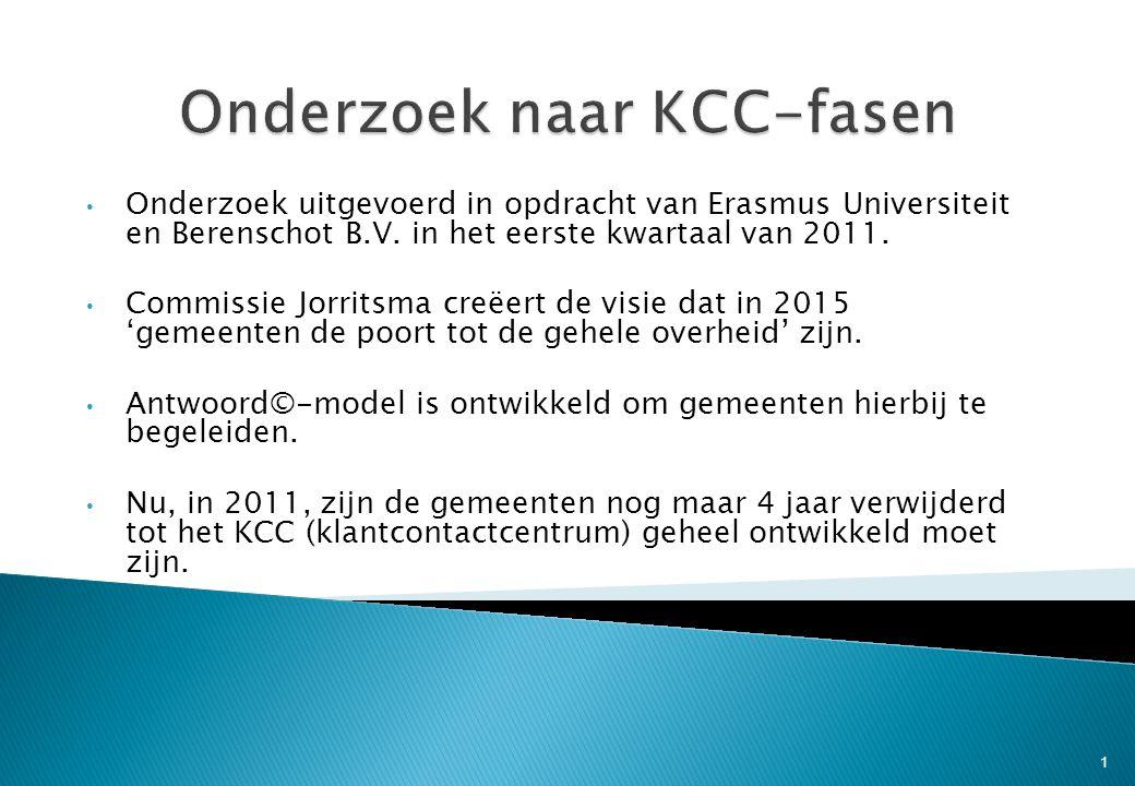 • Onderzoek uitgevoerd in opdracht van Erasmus Universiteit en Berenschot B.V. in het eerste kwartaal van 2011. • Commissie Jorritsma creëert de visie