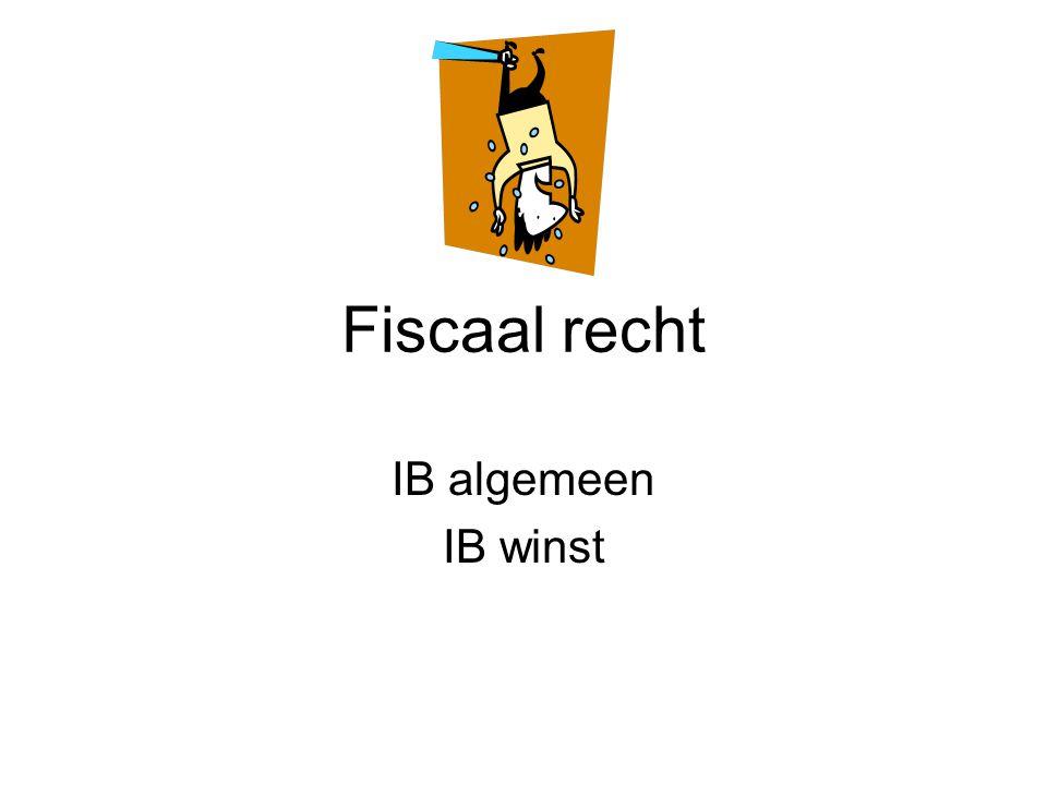 Fiscaal recht IB algemeen IB winst