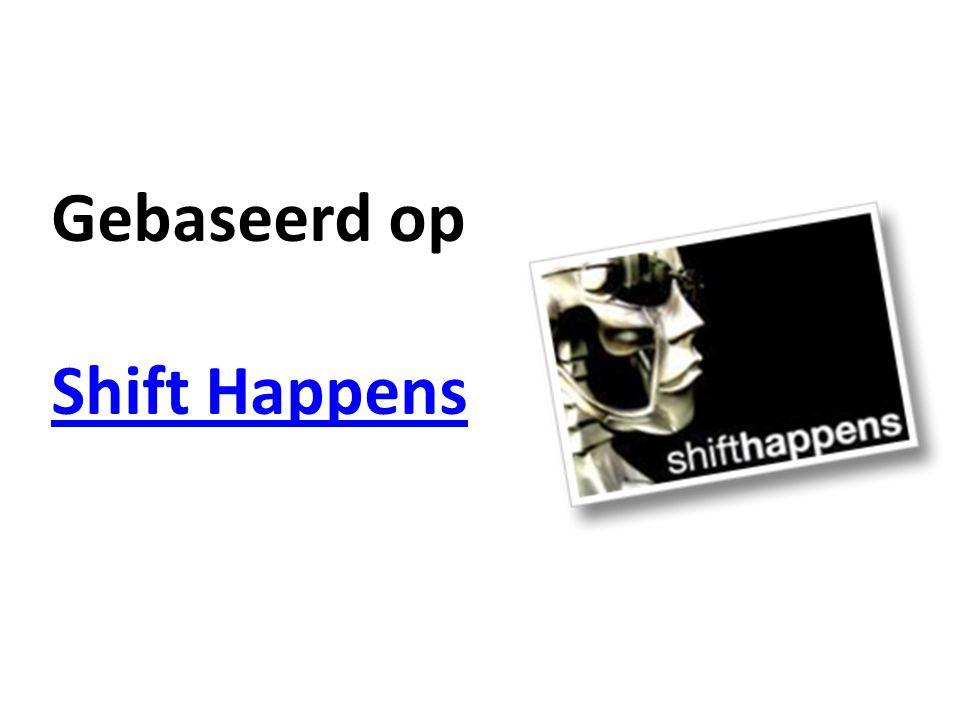 Gebaseerd op Shift Happens Shift Happens