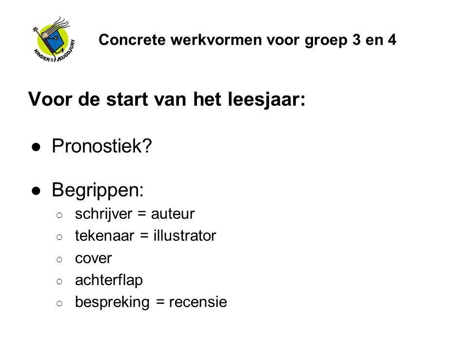 Concrete werkvormen voor groep 3 en 4 Hoe begin je aan een bijeenkomst.