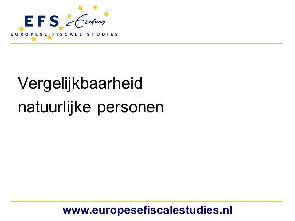 Vergelijkbaarheid natuurlijke personen www.europesefiscalestudies.nl