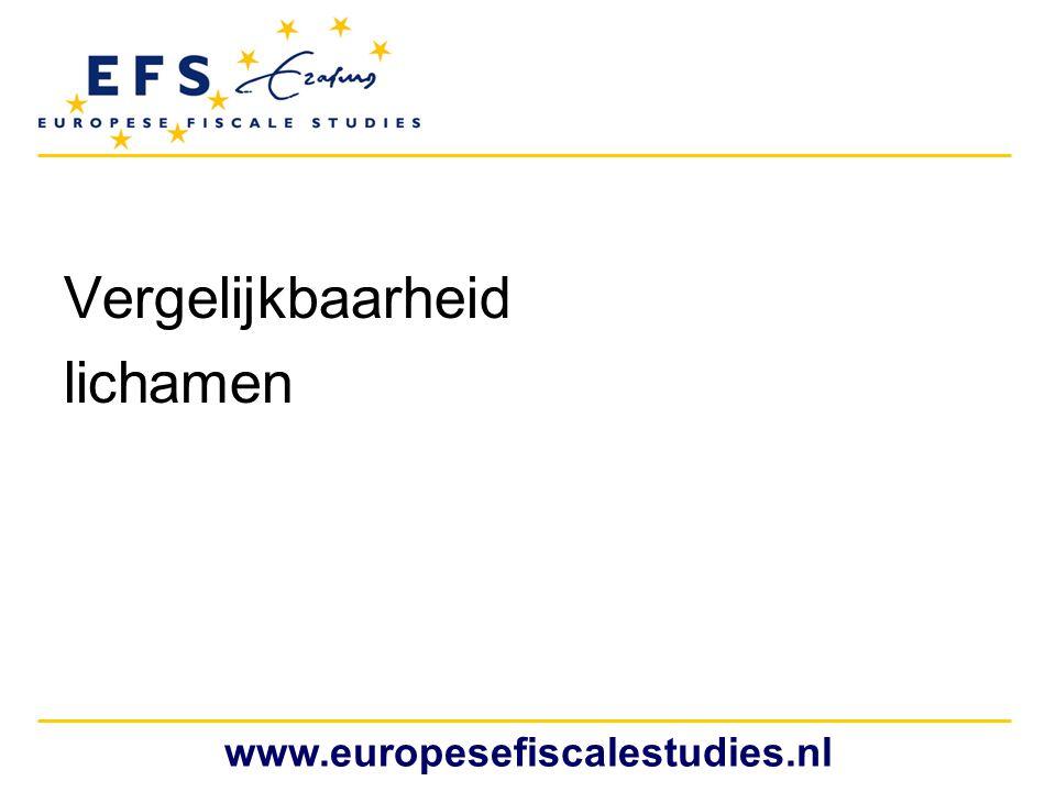 Vergelijkbaarheid lichamen www.europesefiscalestudies.nl