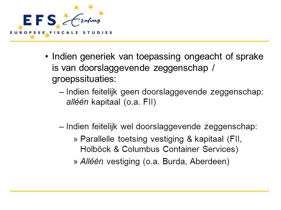 •Effectieve fiscale controle (vervolg) –Geldt er een minimumstandaard.