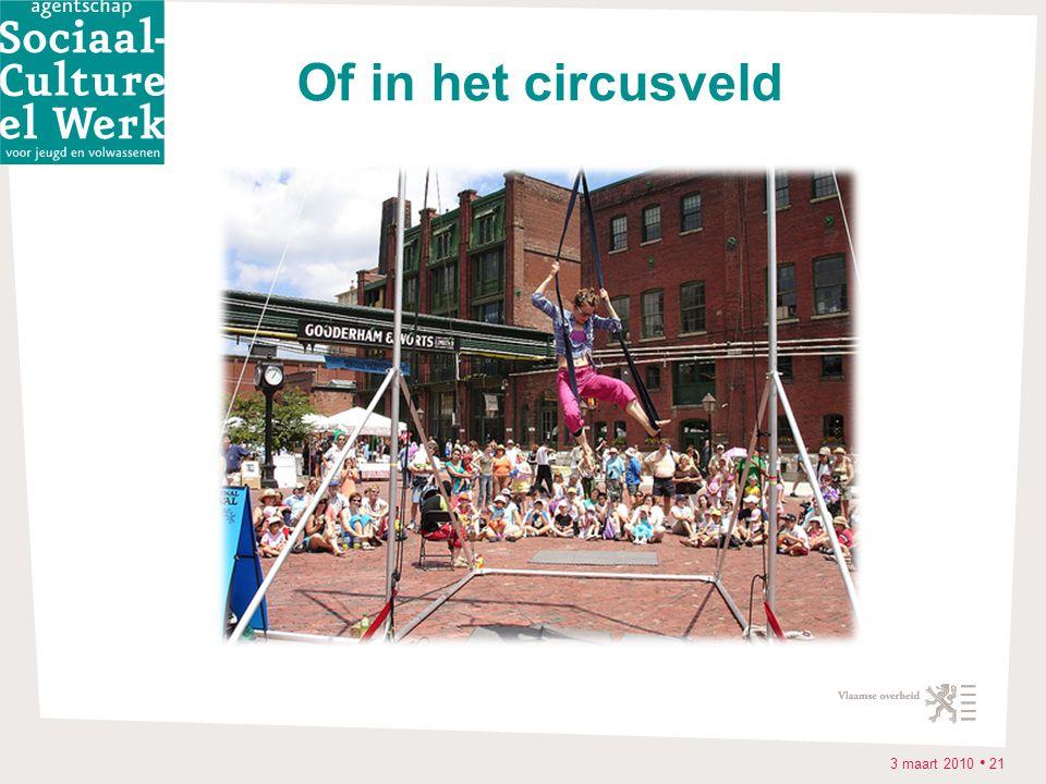 3 maart 2010 • 21 Of in het circusveld