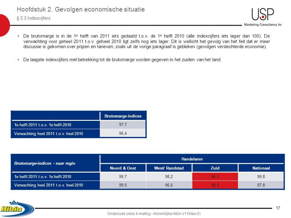 •De brutomarge is in de 1 e helft van 2011 iets gedaald t.o.v.