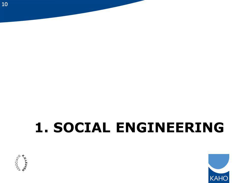 10 1. SOCIAL ENGINEERING