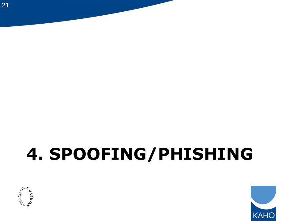 21 4. SPOOFING/PHISHING