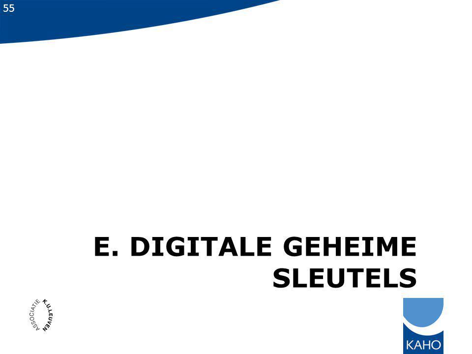 55 E. DIGITALE GEHEIME SLEUTELS