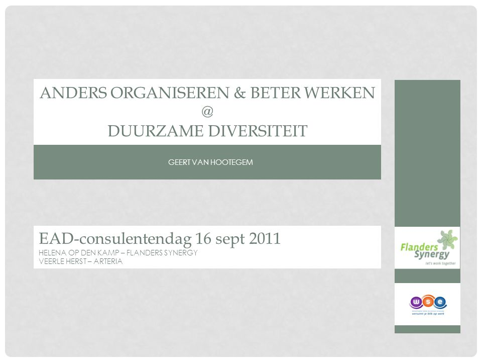 Achtergrond EAD consulentendag 16-09-2011
