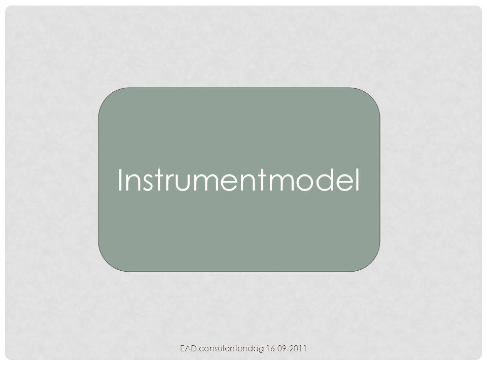 Instrumentmodel EAD consulentendag 16-09-2011