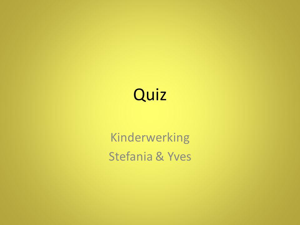 Quiz Kinderwerking Stefania & Yves