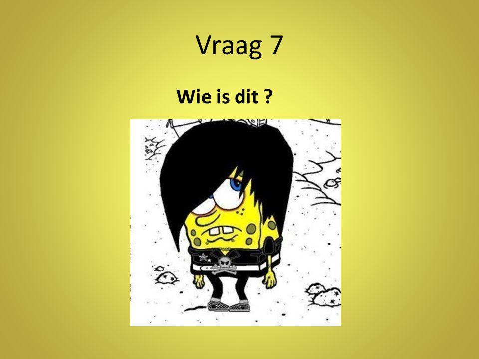 Vraag 7 Wie is dit ?