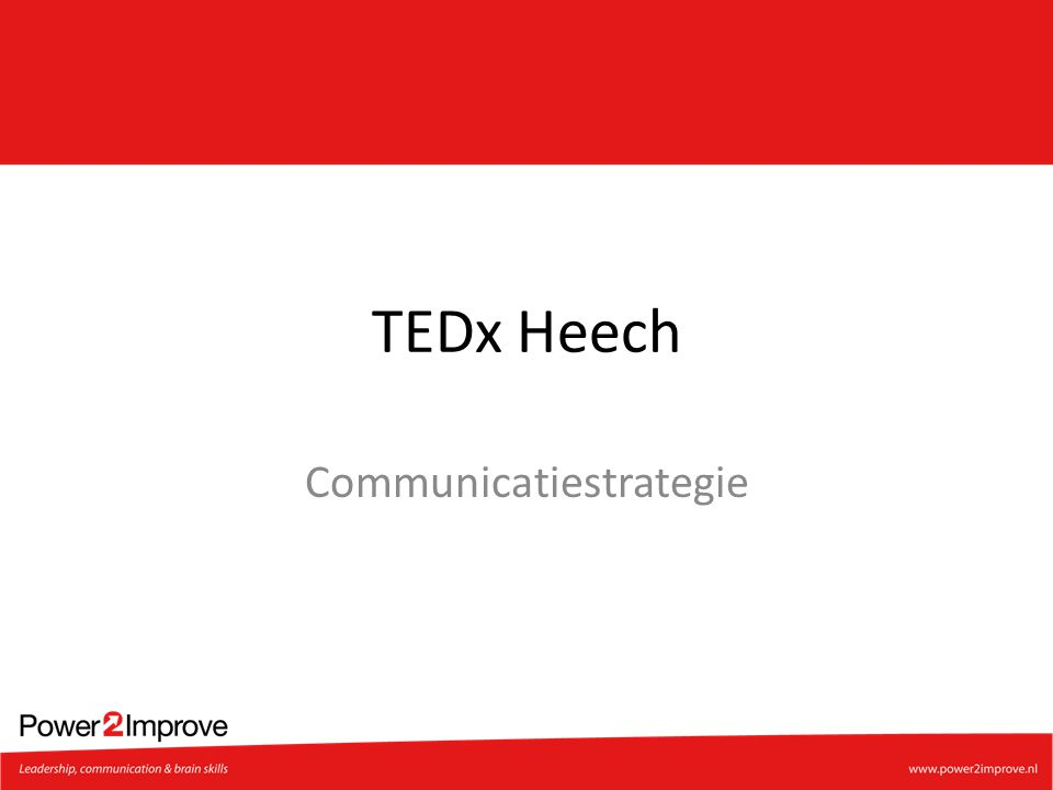 TEDx Heech Communicatiestrategie