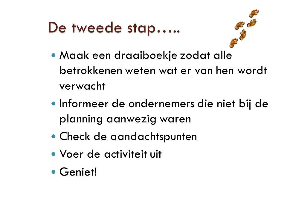 De tweede stap…..