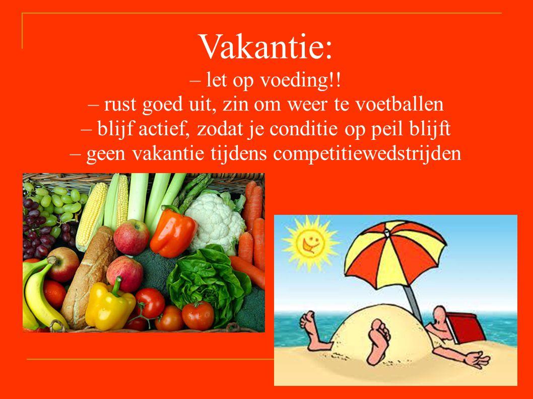Vakantie: – let op voeding!.