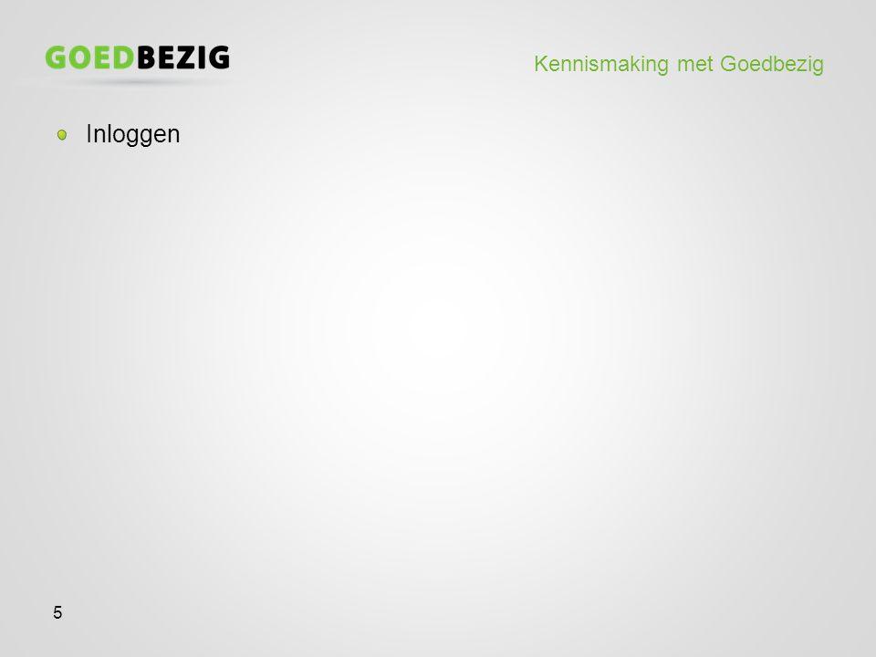 Kennismaking met Goedbezig Inloggen 5
