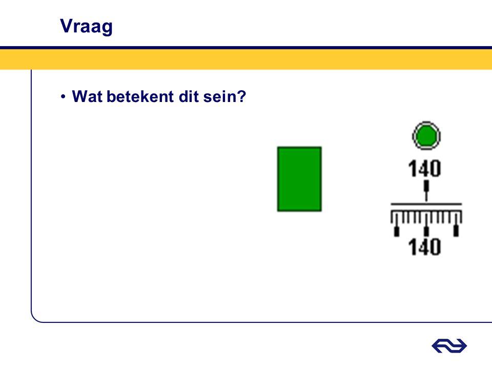 Antwoord Groen (ATB-cabinesein) •Rijden toegestaan met de door de vaste seinen aangeven snelheid.